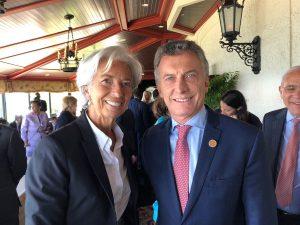 Tras el acuerdo, Macri se reunió con Lagarde en el marco de la cumbre del G7