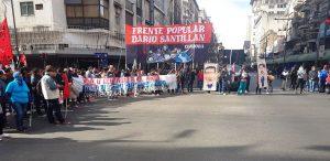 Con corte del puente Pueyrredón, movimientos sociales y políticos recuerdan a Kosteki y Santillán