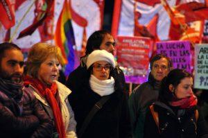 Paro nacional: la Izquierda protestó con cortes en el puente Centenario