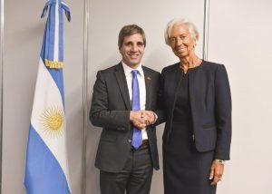 Dujovne y Caputo le informaron a la titular del FMI sobre la reducción del déficit fiscal