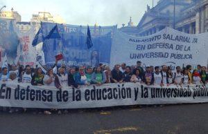 Tras el paro y antes de la marcha, gremios universitarios se reunen con el Gobierno