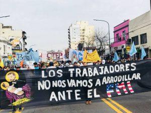Movimientos populares marcharon por «Pan, Tierra y Trabajo»