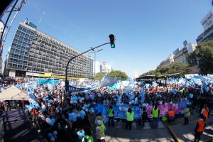 Masiva concentración en el Obelisco en rechazo al aborto legal