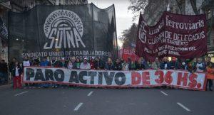 El sindicalismo combativo anunció movilización y piquetes para hacer activa las jornadas de paro del 24 y 25