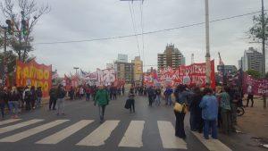 La Izquierda desplegó su «Jornada de Lucha» contra el Presupuesto 2019 y la presencia de Gendarmería