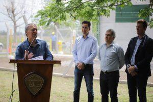 Junto a los referentes del PJ de San Justo, Schiaretti destacó la obra de los Gasoductos