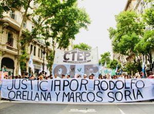 Hubo marcha de repudio por los asesinatos de dos militantes de la CTEP