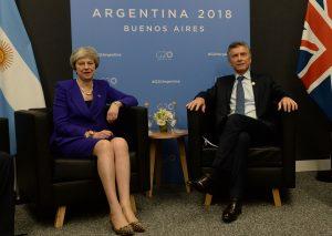 Macri y May mantuvieron un diálogo franco, en un «clima positivo»
