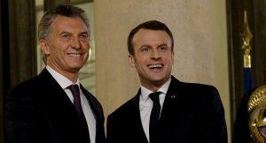 Macri con Macron, en el inicio de una ronda de reuniones con mandatarios del G20
