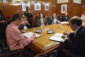 Municipio firmó convenio con el Banco Ciudad para financiar las obras del Distrito Ciudadano