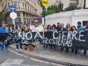 Paro y movilización de docentes porteños contra el cierre de escuelas nocturnas