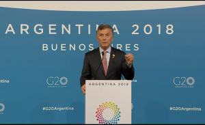 """Conectada al mundo, Macri afirmó que la ARG """"emprendió la reforma correcta y que este es el camino"""""""