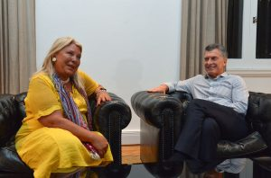 Carrió renovó su apoyo a Macri para la reelección y criticó a Bullrich