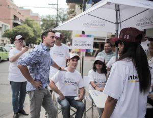 En su campaña, De Loredo suma mesas informativas para fortalecer presencia territorial