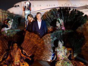 Macri ya está en la India y el lunes inicia su agenda asiática
