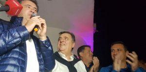 """Todo """"Cambiemos"""" festejó el triunfo de Dieminger, nuevo intendente de La Falda"""