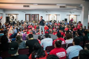 Presupuesto Participativo Joven, propuesta de De Loredo que presentó junto a Mestre