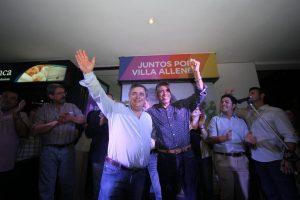 Negri y el PRO festejaron junto al «Gato» Romero su reelección en Villa Allende