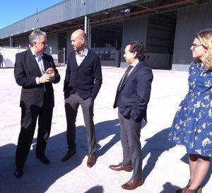 Dietrich y Sica visitaron la Terminal Interior Portuaria CaCEC