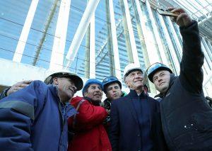 A su regreso al país, Macri recorrió las obras de ampliación en el aeropuerto de Ezeiza