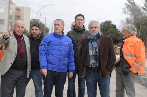 Schiaretti recorrió una «obra satélite» de la avenida Circunvalación en el noroeste de la Capital