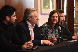En campaña, Fernández disparó duro contra el Gobierno. Habló de un «circuito vicioso de Macri»
