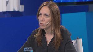 Vidal defendió su Gobierno y volvió a criticar duro al peronismo en sus 28 años al frente de la Provincia