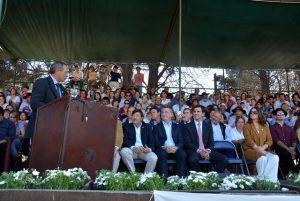 Ante las «turbulencias económicas», García del Río dijo que el campo debe «ser solidario», pero demandó «políticas de estado que generen seguridad y previsibilidad»