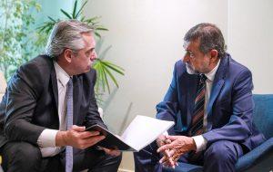 Caserio le transmitió a Alberto F. la «preocupación» por el impacto de las medidas de Macri en las finanzas de la Provincia