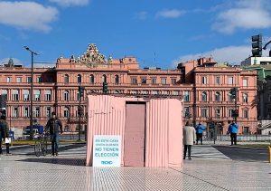 Una «Casilla Rosada» detrás de «La Rosada» para visibilizar la emergencia en los barrios populares