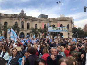 Hubo marcha en Córdoba para apoyar al Gobierno de Macri