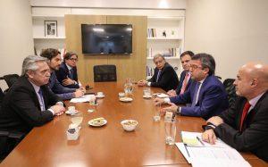 Con el titular del BID, Alberto F. analizó la situación crediticia del país