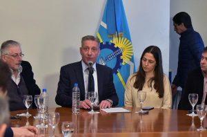 Arcioni le reclamó al Gobierno nacional «los fondos prometidos» para salir de la crisis