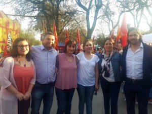 Del Caño y Del Plá acompañaron a la fórmula del FIT en el cierre de campaña en Mendoza