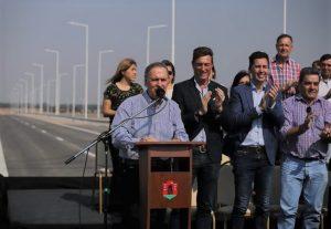 Al inaugurar la autopista Río Primero – Córdoba, Schiaretti reafirmó su postura de prescindir de un candidato a presidente