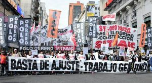 Marchan a Plaza de Mayo «contra el hambre y la pobreza»