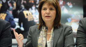 Bullrich se refirió al plan  «Argentina sin búnkeres» de drogas