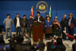 Dirigentes de distintas extracciones políticas repudiaron el «golpe de Estado» en Bolivia