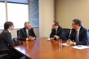 """La CAF se comprometió a """"profundizar el apoyo financiero» por más de U$D 4.000 millones"""