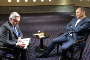 Alberto F. afirmó que comparte con Correa «una visión común sobre los desafíos que tiene el continente»