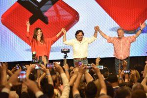 «Hoy empezamos a transitar un nuevo camino en nuestra provincia», afirmó Sáenz al festejar el triunfo