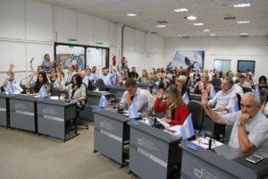 Concejales y autoridades municipales congelan sus sueldos por 180 días en el marco de la emergencia económica