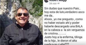 El empresario que deseó descargar una «bala» en la cabeza a CFK pidió disculpas