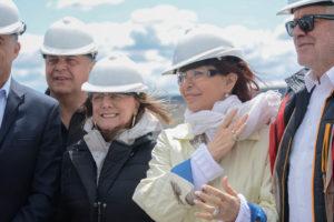 Cristina y Alicia recorrieron las obras de la represa Néstor Kirchner