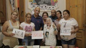 Cortiñas expresó su rechazo al desalojo de los trabajadores de Minetti