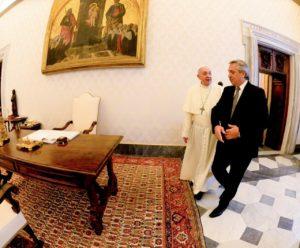 Alberto F. se reunió con el Papa Francisco