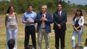 Alberto F. desembarcó en Chaco para inaugurar viviendas junto a Capitanich