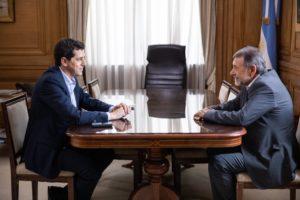Wado de Pedro se reunió con Caserio en Casa Rosada