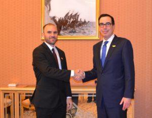 «Productivo encuentro» entre Martín Guzmán y el secretario del Tesoro de los Estados Unidos