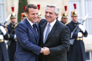 Ante Alberto F., Macron expresó su apoyo a la Argentina por la renegociación de la deuda